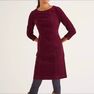 Boden Ruby Ring Coraline Corduroy Midi Dress